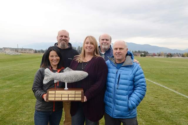 Heidi Desch / Whitefish Pilot Project Whitefish Kids was the recipient of the Whitefish Community Foundation's Great Fish Award. The nonprofit was founded to construct the Smith Fields sports complex and today they maintain the 55-acre complex. Board members are Lynnette Donaldson, Lance Mortensen, Kelly Mortensen, Clif Hayden and Don Bestwick.