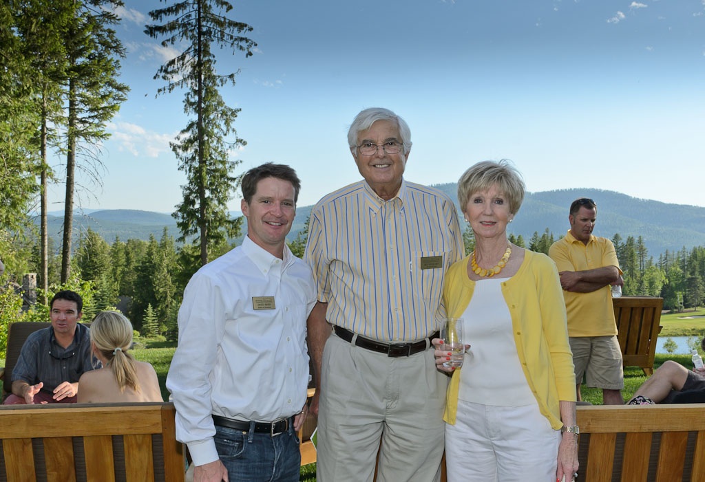 Doug Reed with Jean and Bill Howard at the 2012 Summer Art Social.