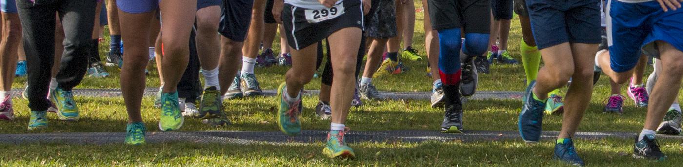 Color Run Running feet